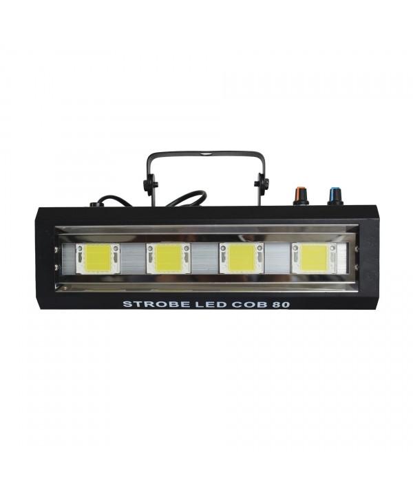 Stroboscope 80W  4 LEDs Blanches Power Lighting STROBE LED COB 80