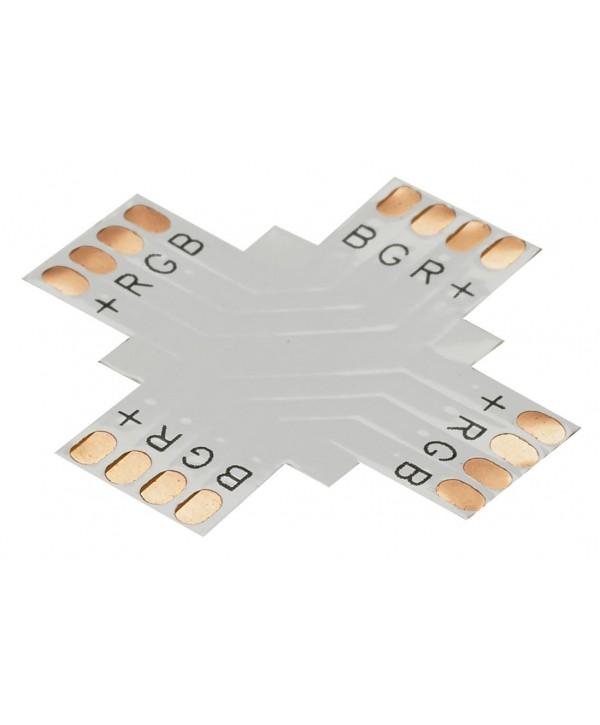 Connecteur en T XCO4 pour rubans à leds RGB 10mm