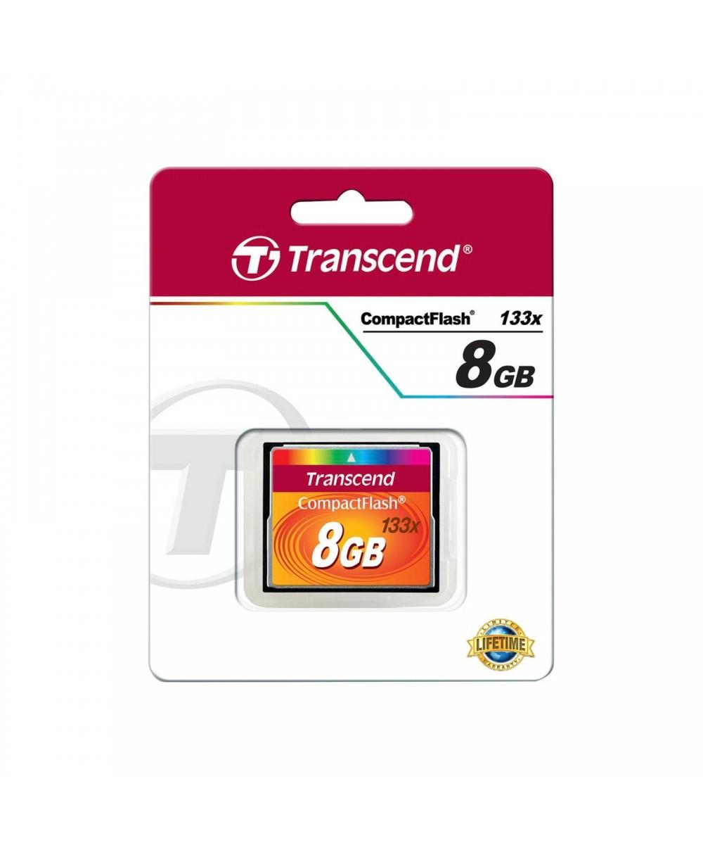 Transcend Compact Flash 8GB 133x Cartes Compact-Flash