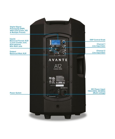 Enceinte Active AVANTE A12 400W RMS