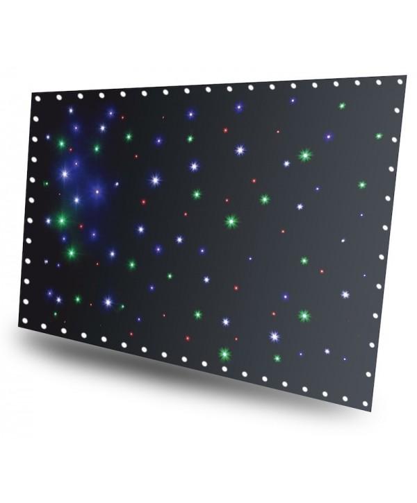 SparkleWall Rideau à LEDs 96 x RGBW 3x2m avec contrôleur