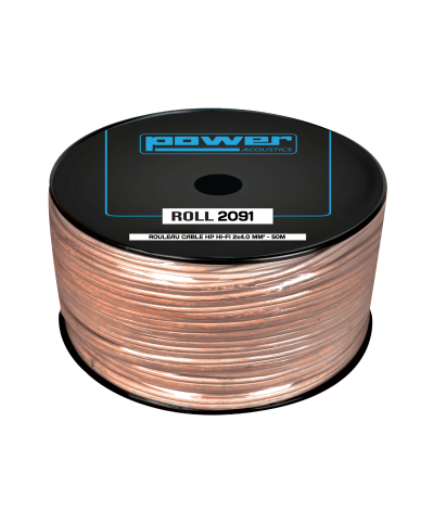 Rouleau Câble HP HIFI 2 x 4.0mm² 50m Power Acoustics ROLL 2091