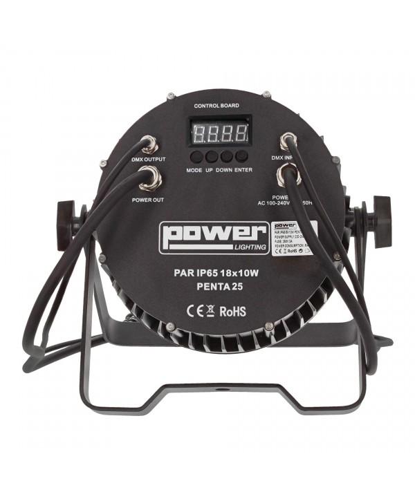 PAR SLIM 18x10W IP65 PENTA25 RGBWA angle 25° Power Lighting