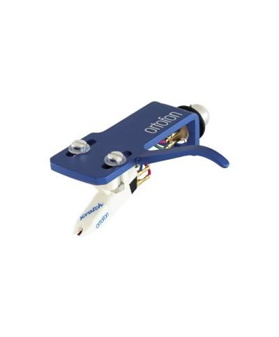 Cellule Ortofon OM Scratch White montée sur porte Cellule SH-4 BLUE