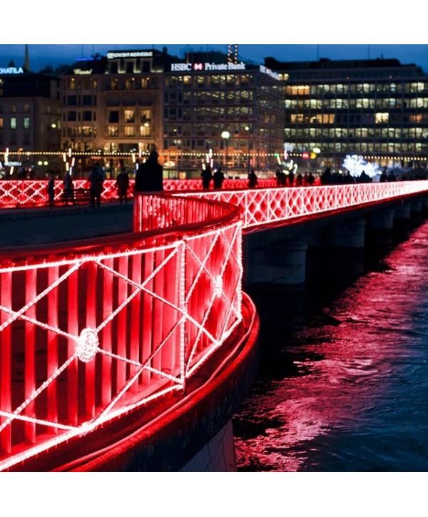Cordon Lumineux LED HQ Fixes Rouge 90M 36LED/M LEBLANC