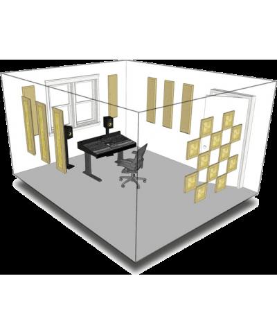 Kit de traitement acoustique pour 11 m² beige Primacoustic
