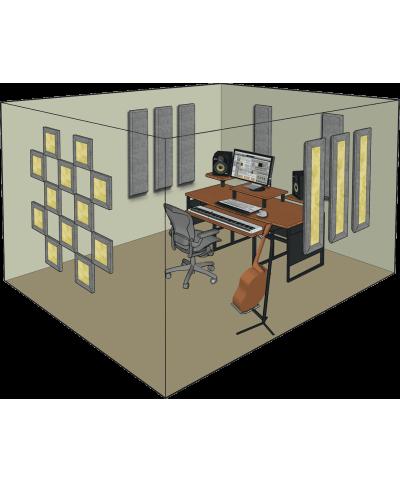 Kit de traitement acoustique pour 11 m² gris Primacoustic