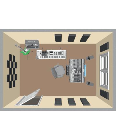 Kit de traitement acoustique pour 11 m² noir Primacoustic
