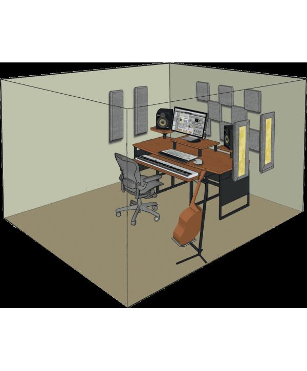 Kit de traitement acoustique pour 9 m² gris Primacoustic