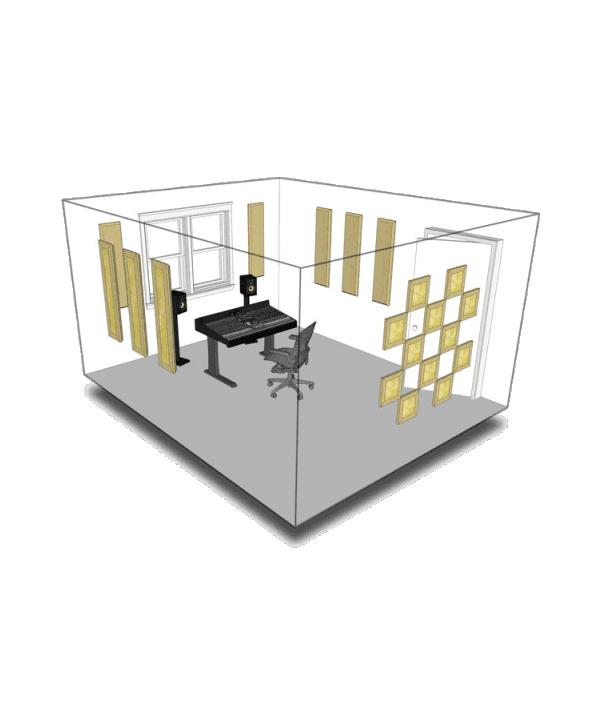 Kit de traitement acoustique pour 11 m² à peindre Primacoustic
