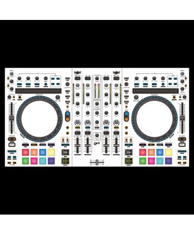Dj Skins Denon DJ MC 7000 WHITE aka STAR TROOPER Skin