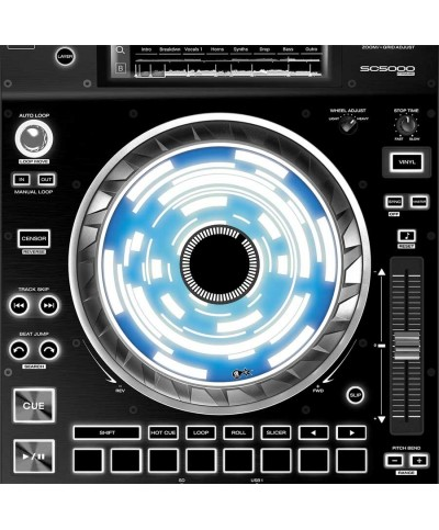 Dj Skins Denon DJ SC 5000 JOGWHEEL CONSTRUCTOR BLUE Skins la paire