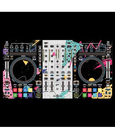 Dj Skins Denon DJ MC 7000 SYNTHWAVE MIZUCAT Skin