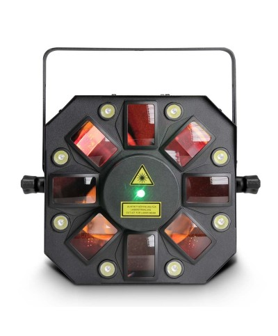 Effet STORM CAMEO 3 en 1 avec Derby Stroboscope Laser 5 x 3 W RGBWA