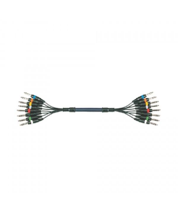 Octopaires 3m 8X XLR 3 PIN Mâle - XLR 3 PIN Femelle POWER ACOUSTICS CAB 2156