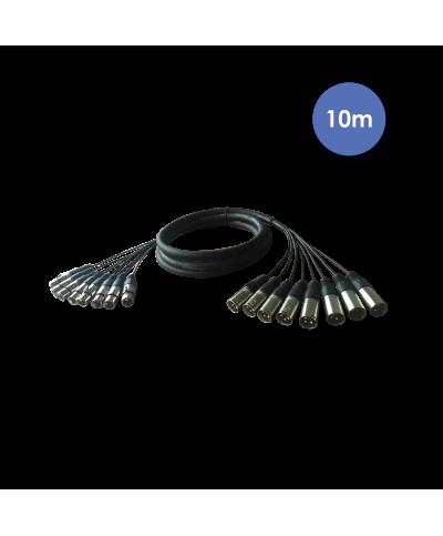 Octopaires 10m 8X XLR 3 PIN Mâle - XLR 3 PIN Femelle POWER ACOUSTICS CAB 2222