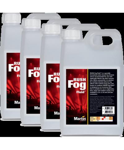 Liquide RUSH Fog Fluid 4x 2.5L Martin By Harman