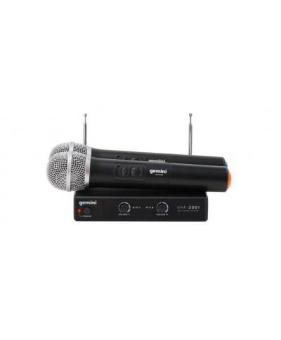 Système Micro HF Double Main GEMINI VHF-02 186,6 MHz - 204,6 MHz