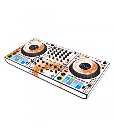 Dj Skins Pioneer DJ DDJ 1000 ORANGE SWIRL Skin
