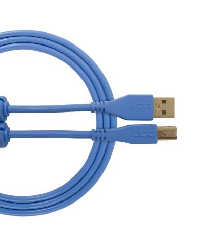 Cable udg usb 2.0 A-B bleu droit 3m Udg U 95003 LB