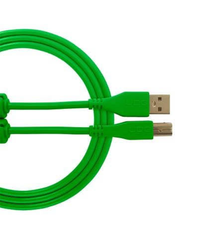 Cable udg usb 2.0 A-B vert droit 3m Udg U 95003 GR