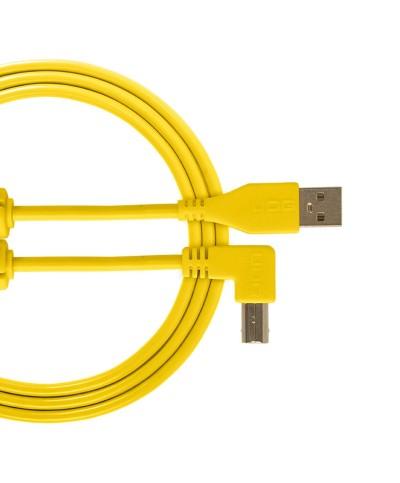 Cable udg usb 2.0 A-B jaune coudé 1m Udg U 95004 YL