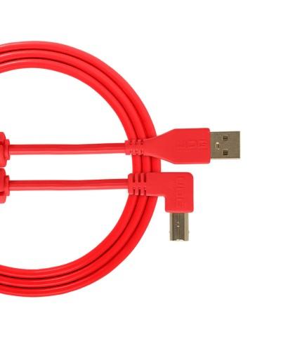 Cable udg usb 2.0 A-B rouge coudé 1m Udg U 95004 RD