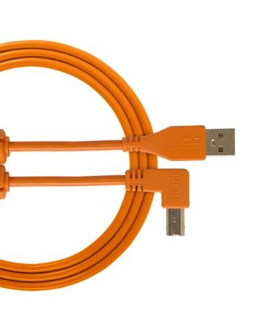 Cable udg usb 2.0 A-B orange coudé 1m Udg U 95004 OR