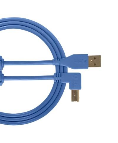 Cable udg usb 2.0 A-B bleu coudé 1m Udg U 95004 LB