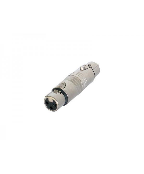 Adaptateur XLR Femelle XLR Femelle Neutrik NA3FF Type Raccord
