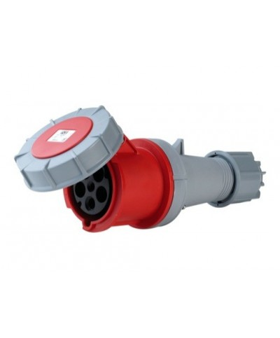 Fiche Electrique Femelle P17 63A IP67 Rouge TRI N T
