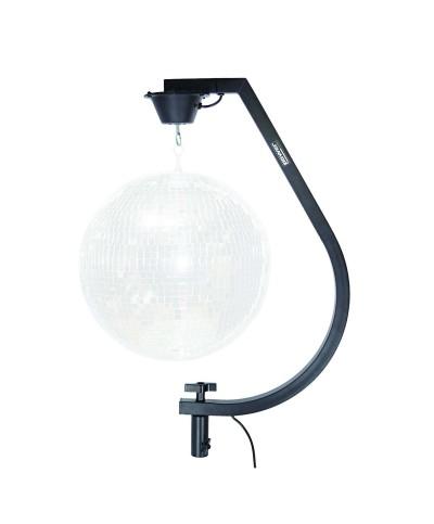Support et adaptateur pour pieds de boule à facettes Power Acoustics MIRRORBALL STAND BL noir