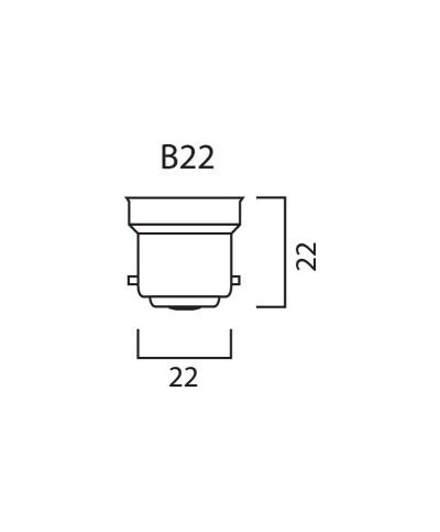 Ampoule Guirlande à Led Baïonettes Jaune 0,8W 230V B22D