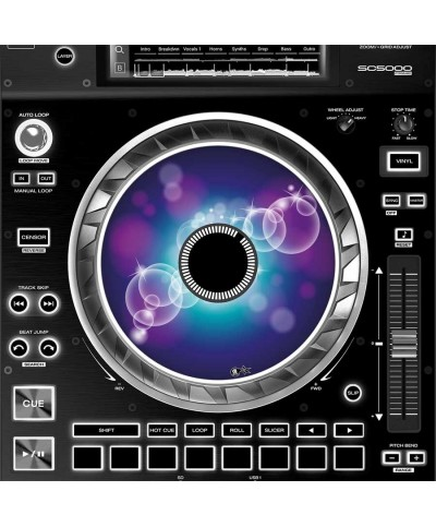 Dj Skins Denon DJ SC 5000 JOGWHEEL BUBBLE SPACE Skins la paire