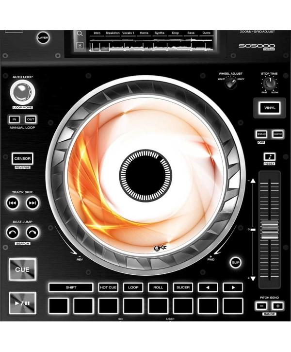 Dj Skins Denon DJ SC 5000 JOGWHEEL ORANGE SWIRL Skins la paire