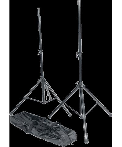 Pack 2 Pied Enceintes métal + sac de transport noir RTX  TRT SS01