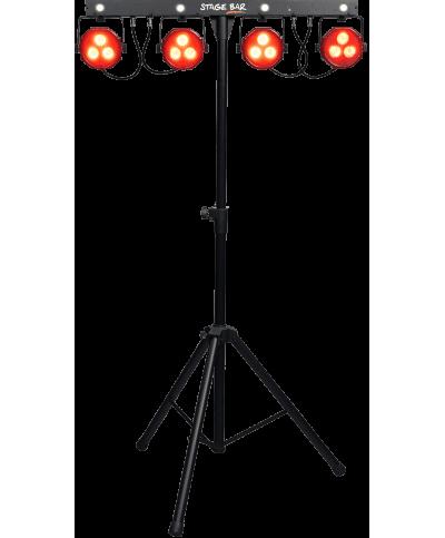 Projecteurs à 4 LEDs sur pied et pédalier STAGE-BAR Algam Lighting