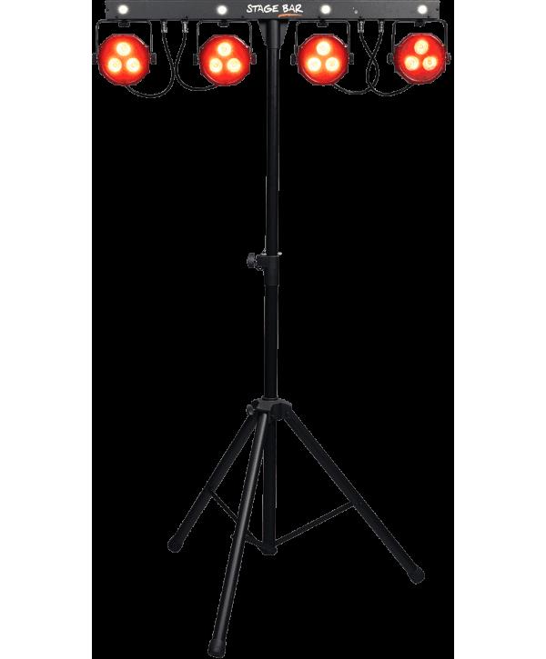 Projecteurs à LED sur pied et pédalier STAGE-BAR Algam Lighting