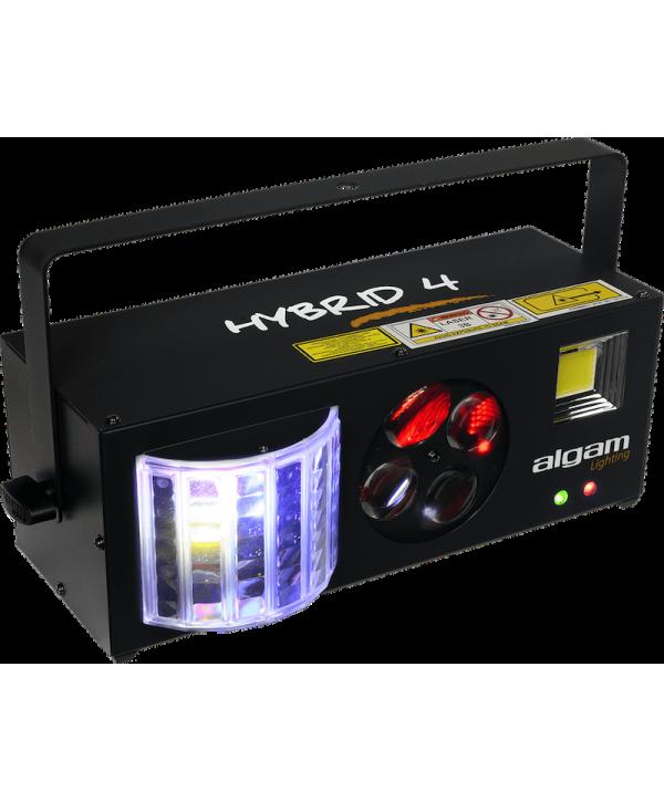 Effet Led HYBRID 4 Algam Lighting 4-en-1 derby, stroboscope, gobo, lasers
