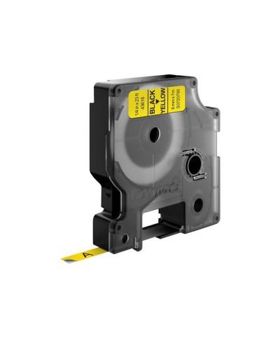 Dymo Ruban D1 6 mm x 7 m noir sur jaune   43618 Accessoires Étiqueteuse