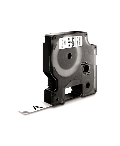Dymo D1 Ruban   12 mm x 7 m noir sur blanc 45013 Accessoires Étiqueteuse