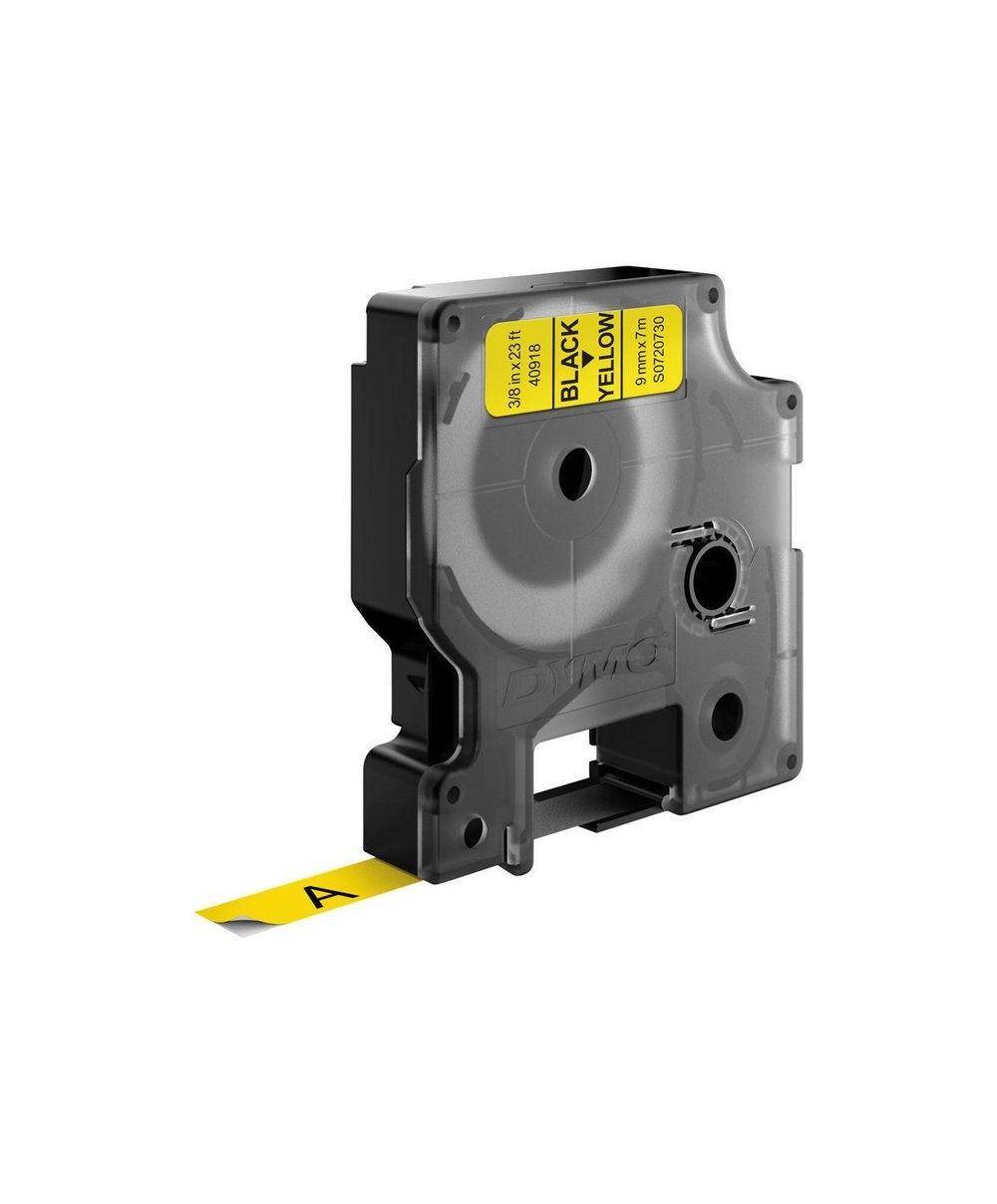 Dymo D1 Ruban   9 mm x 7 m noir sur jaune 40918 Accessoires Étiqueteuse