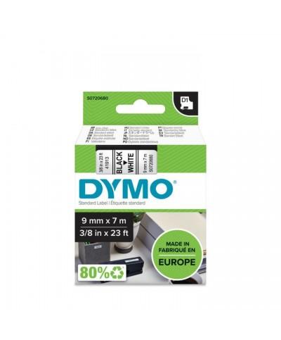 Dymo D1 Ruban   9 mm x 7 m noir sur blanc 40913 Accessoires Étiqueteuse