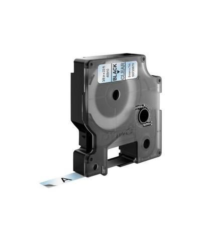 Dymo D1 Ruban  9 mm x 7 m noir sur transparent 40910 Accessoires Étiqueteuse