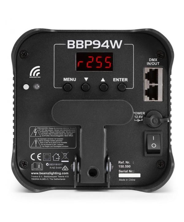 Projecteur LED sur Batterie BEAMZ BBP94W PAR 4x12W RGBAW UV