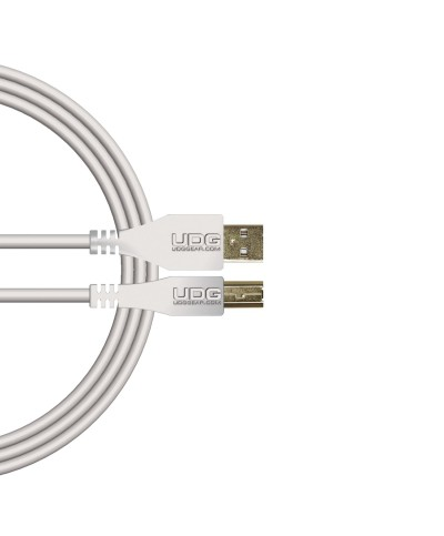 Câble USB 2.0 A-B UDG Blanc Droit 1m