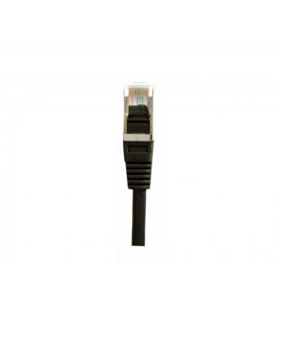 Cordon Ethernet RJ45 Cat6 F/UTP Blindé câble droit Noir 0,50m