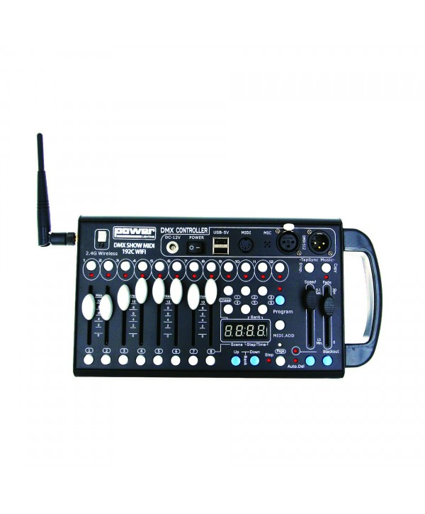 Console DMX Midi 192 Canaux Power Lighting DMX SHOW MIDI 192C WIFI