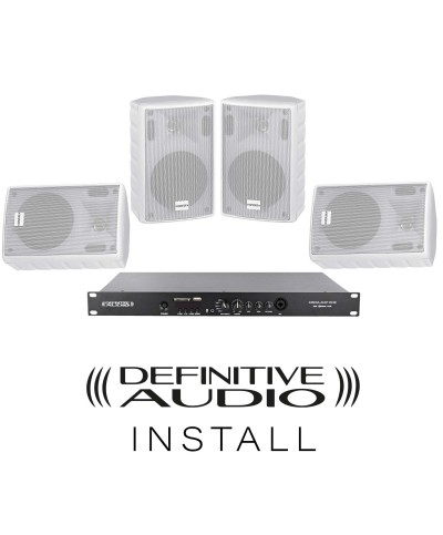PACK INSTALL RESTO Blanc 4xNEF WH 1xMEDIA AMP ONE