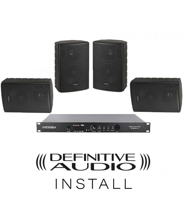 PACK INSTALL RESTO Noir 4xNEF5 BL 1xMEDIA AMP ONE